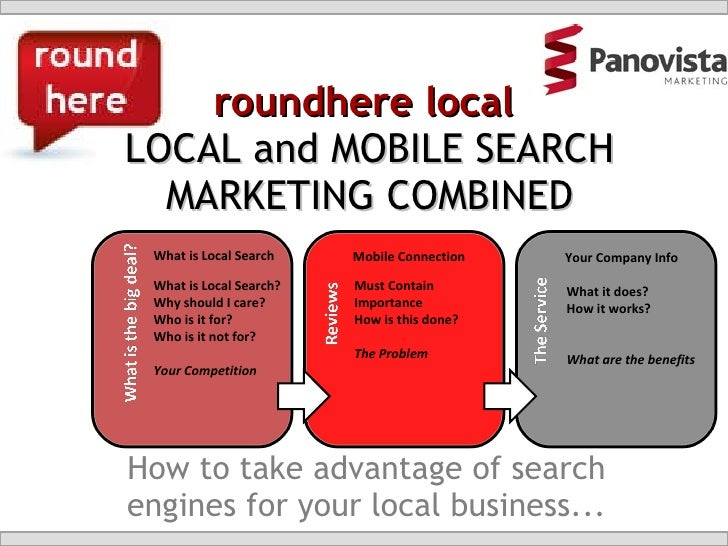 roundhere local  LOCAL and MOBILE SEARCH MARKETING COMBINED How to take advantage of search engines for your local busines...