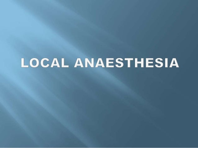 Local Anaesthetics produce loss of sensation to pain in a circumscribed area of the body by inhibiting the conduction proc...