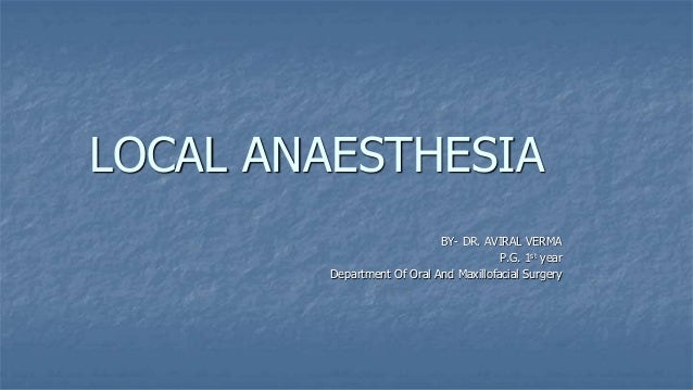 Local anaesthesia for ophthalmic surgery