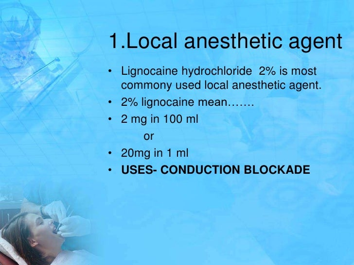 local anaesthetic agents Local anaesthetic doses local anesthetics will tend on their own to associate strongly with tissues calculating the maximum dose of local anaesthetic agent.