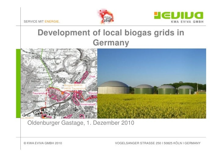 Local Biogas Grids - improving the economics of biogas plants
