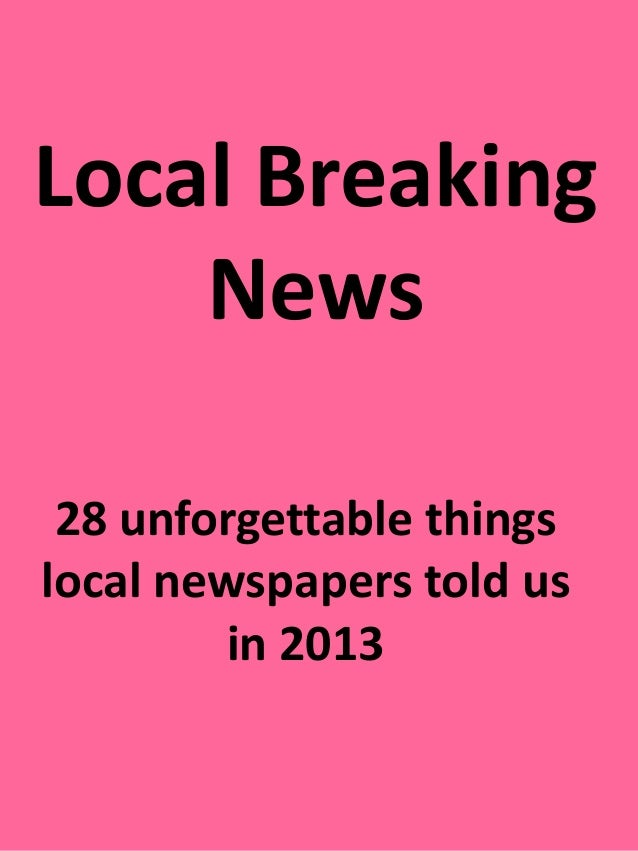 Local breaking news