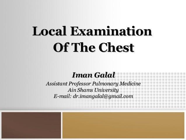Local chest examination