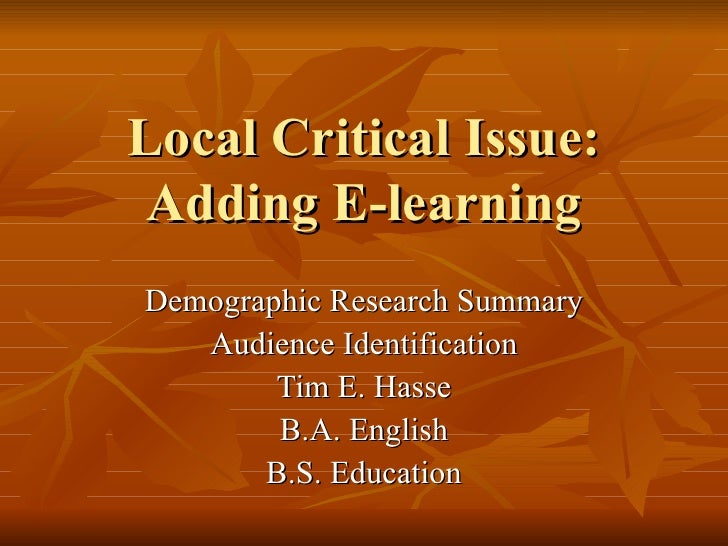 Local Critical Issue Version 2