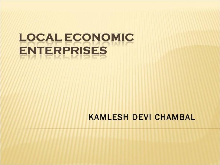 Local economic enterprises   special report