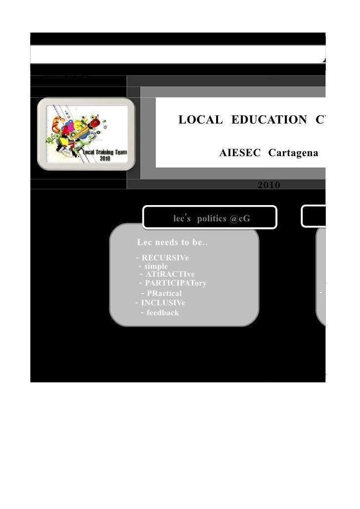 Local education cycle @cg