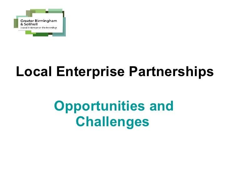 Thursday 30 June, F11 - LEPs opportunities and challenges, Birmingham City Council
