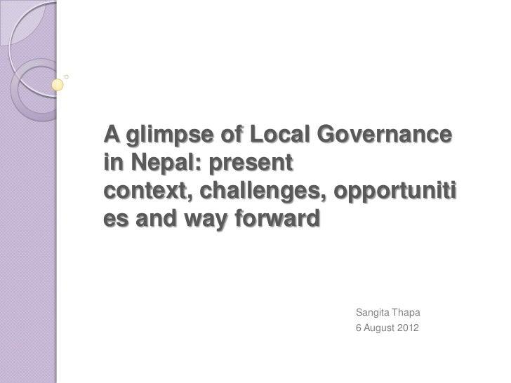 Local governance