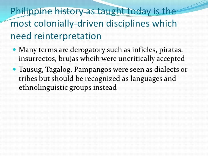 reaction paper about philippine history If we have the luxury of time of scanning the recent literatures of philippine history , one might notice immediately that the trend of writing centers now in the local.