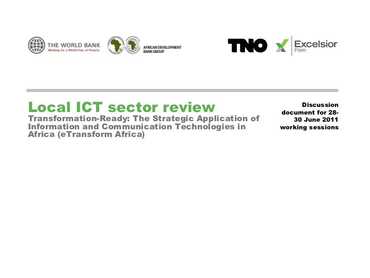 Local ICT sector review                                    Discussion                                                     ...