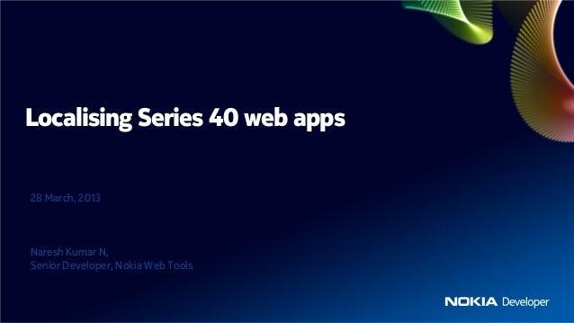 Localising Series 40 web apps