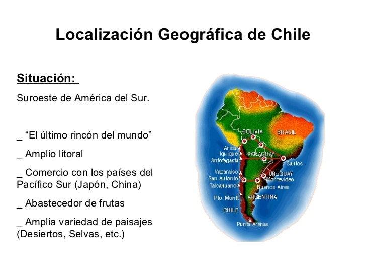 Chile Localizacion Geografica Geográfica de Chile