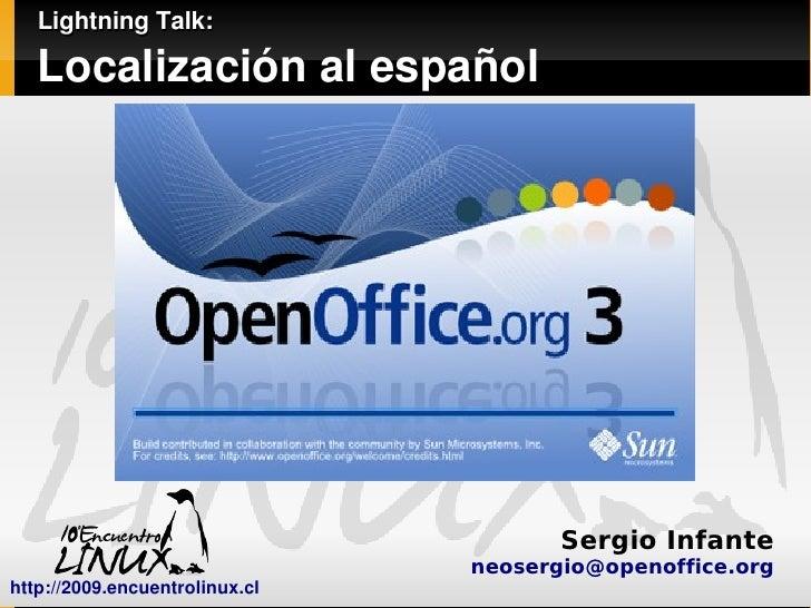 Lightning Talk - Localización al español de OpenOffice.org