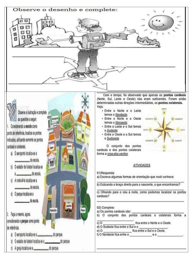 HISTÓRIA E GEOGRAFIA TÔ POR DENTRO Atividades de  ~ Rosa Dos Ventos Quarto Ano