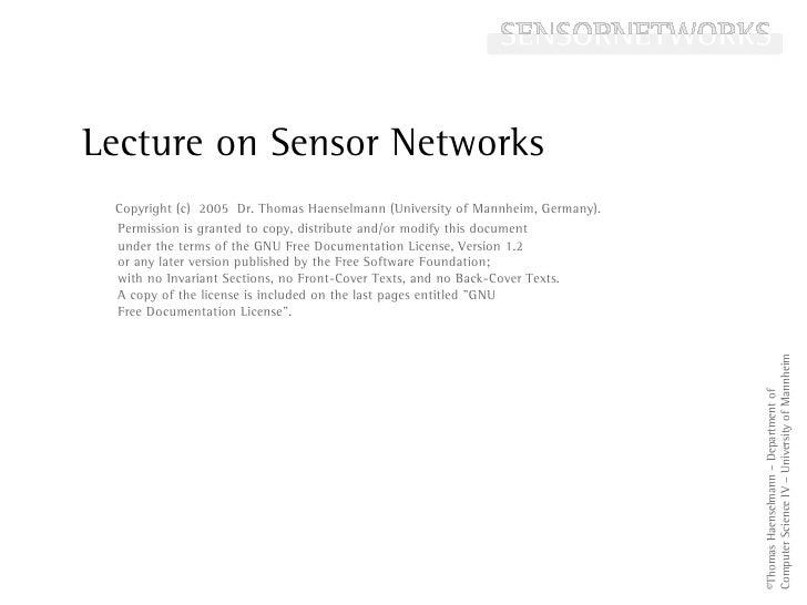 Lecture on Sensor Networks                                                                                           Histo...