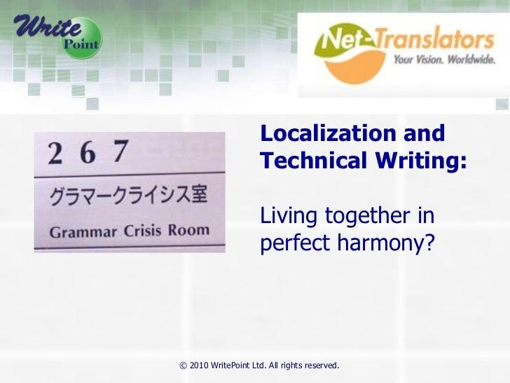 Localization -WritePoint & Net Translators