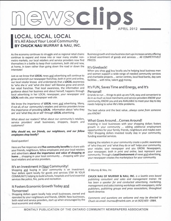 Local, local, local
