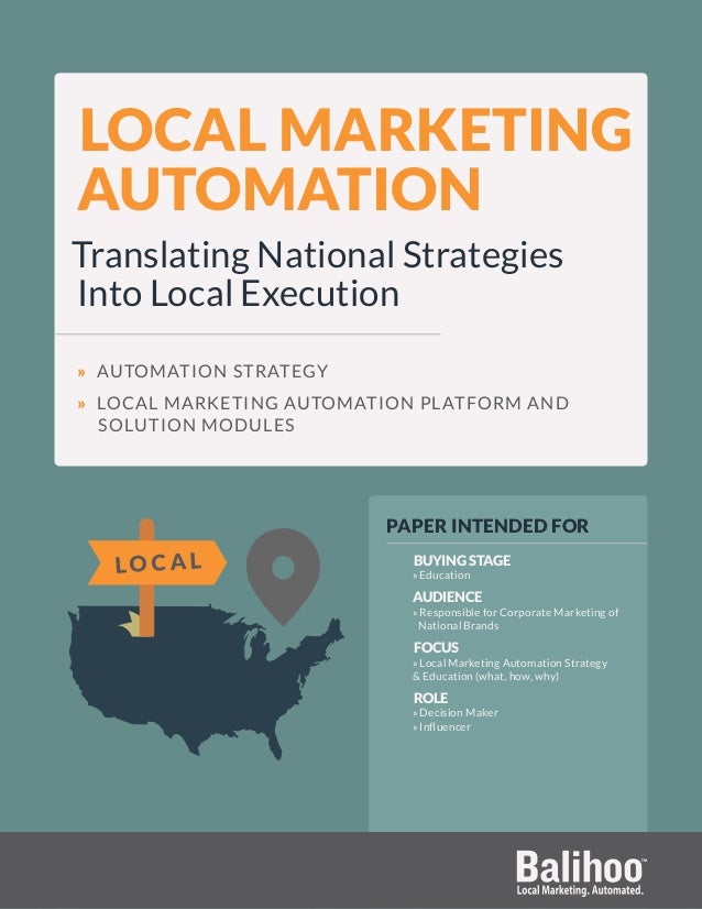 LOCAL MARKETING AUTOMATION Translating National Strategies Into Local Execution » AUTOMATION STRATEGY » LOCAL MARKETING AU...