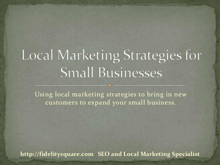 Local marketing strategies for small businesses