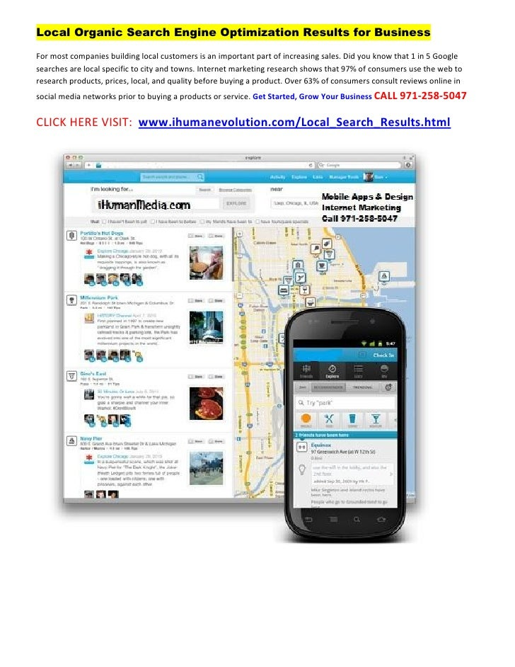 Local Organic Search Engine Optimization Results for BusinessFor most companies building local customers is an important p...