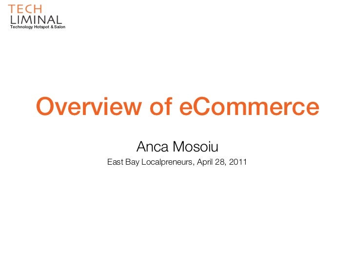 eCommerce Solutions for Small Business - An Overview