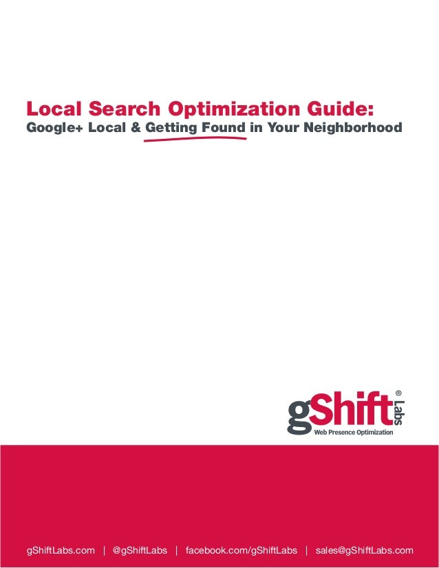 Local Search Optimization Guide - gShift Labs