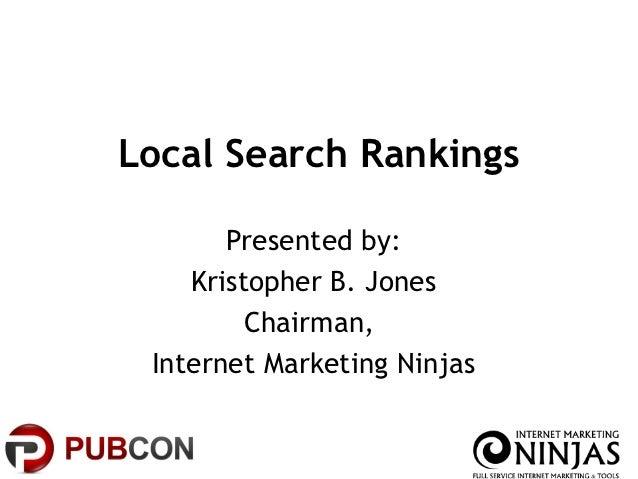 Local Search Rankings (PubCon 2012)