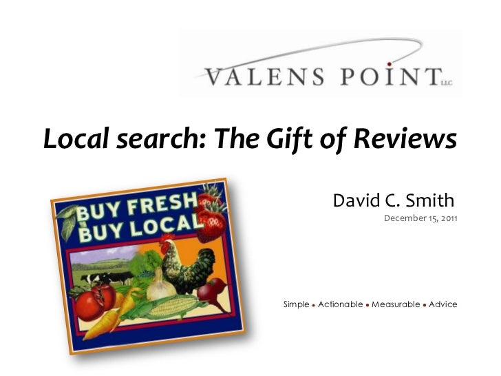 Local search: The Gift of Reviews                                                                                   David ...
