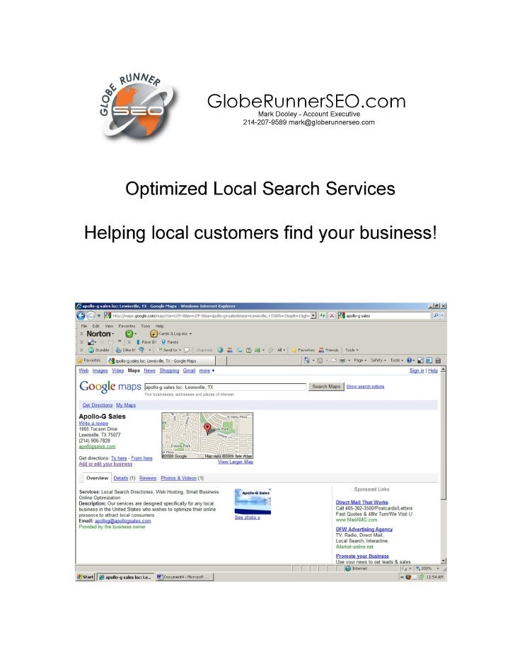 Optimized Local Search Services