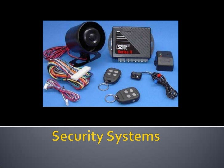 Security Systems<br />