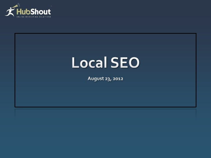 Local SEO Webinar