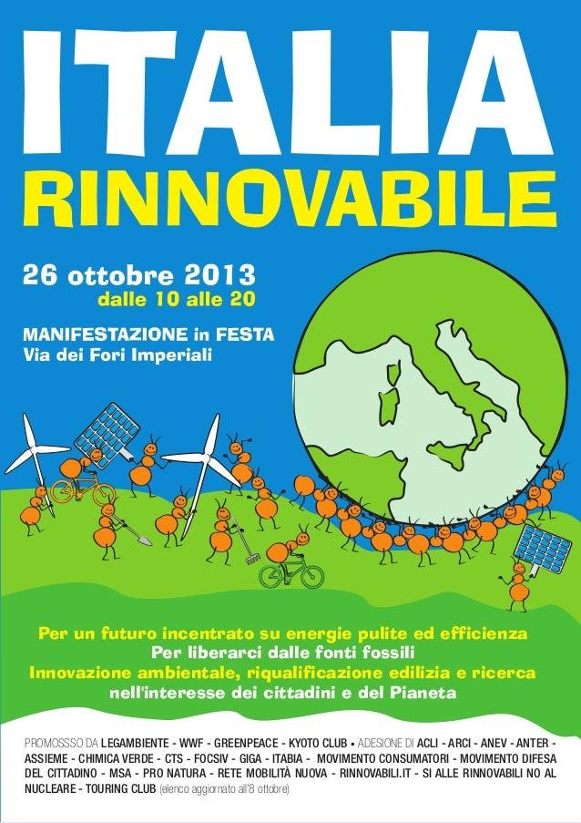 WWF Italia: Manifestazione in festa: Italia rinnovabile