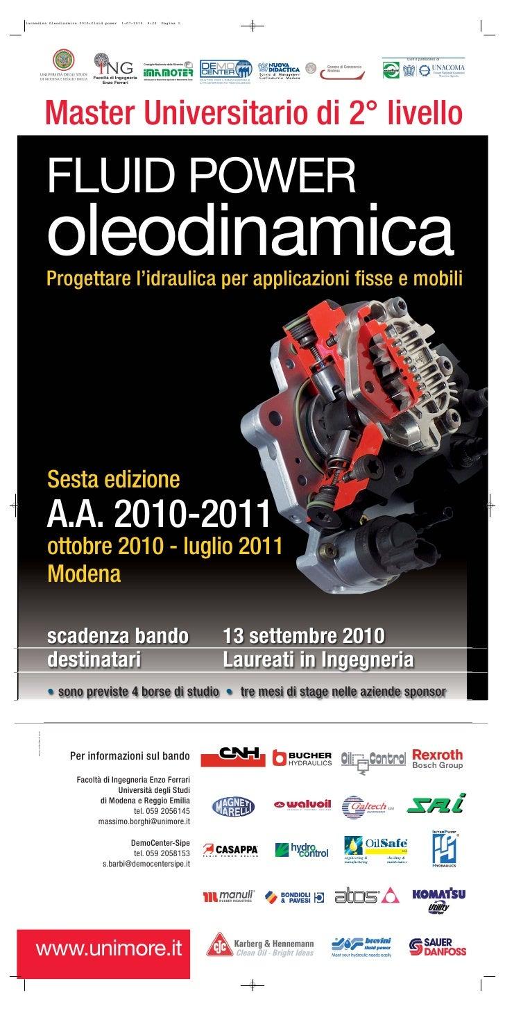 Locandina oleodinamica 2010 fluid power 6 ed def