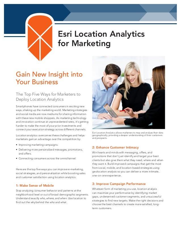 Location Analytics for Marketing