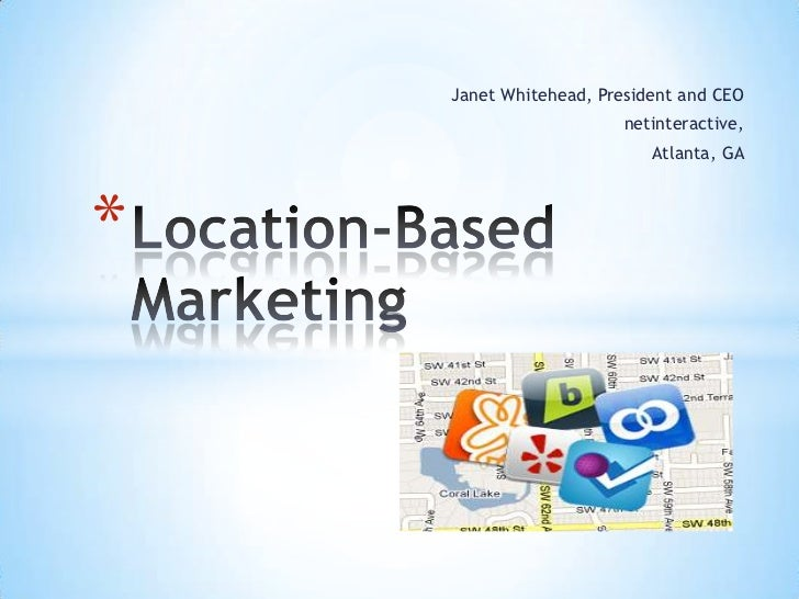 Location based marketing presentation for tag