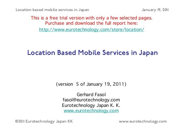 Location based mobile services in Japan