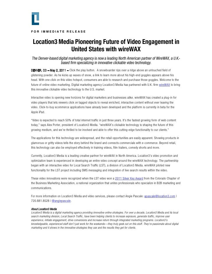 Location3 Media Pioneering Future of Video Engagement in United States with wireWAX
