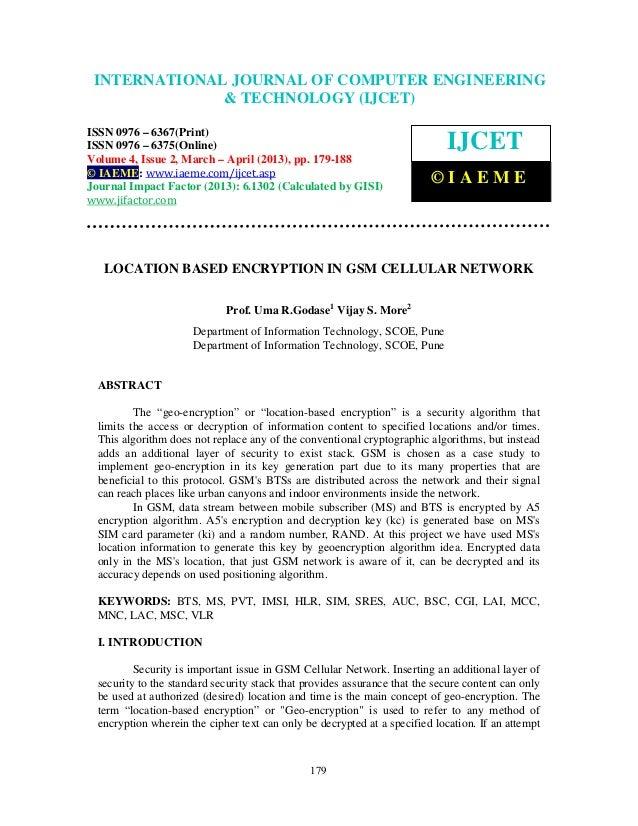 INTERNATIONALComputer Engineering and2,Technology ENGINEERING  International Journal of JOURNAL OF COMPUTER (IJCET), ISSN ...