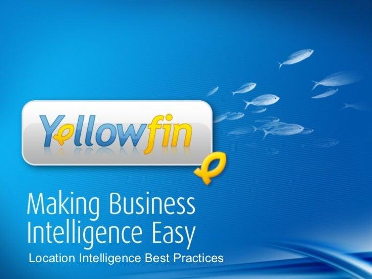 Location Intelligence Best Practices