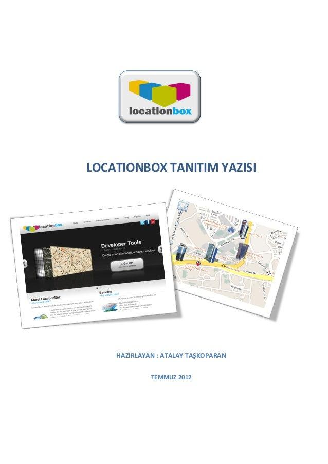 Location Box Temmuz 2012 Tanitim