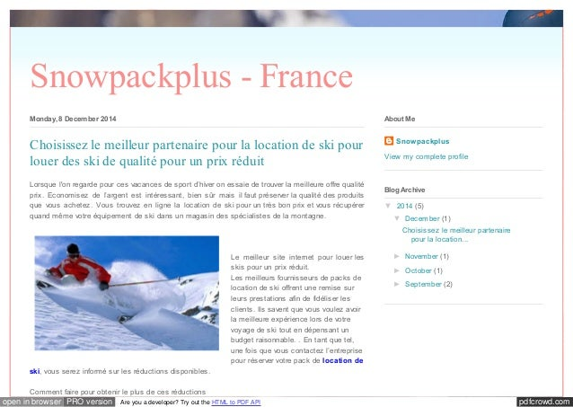 pdfcrowd.comopen in browser PRO version Are you a developer? Try out the HTML to PDF API Snowpackplus - France Monday, 8 D...