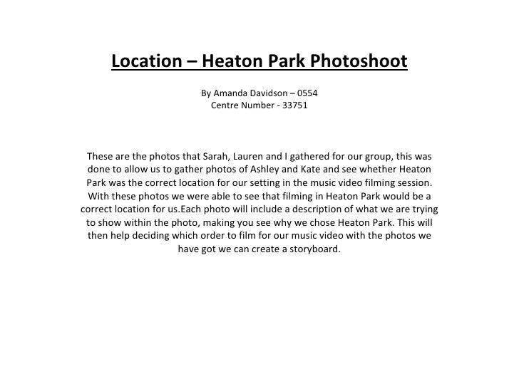 Location – Heaton Park Photoshoot