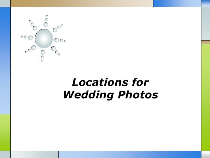 Locations for wedding photos