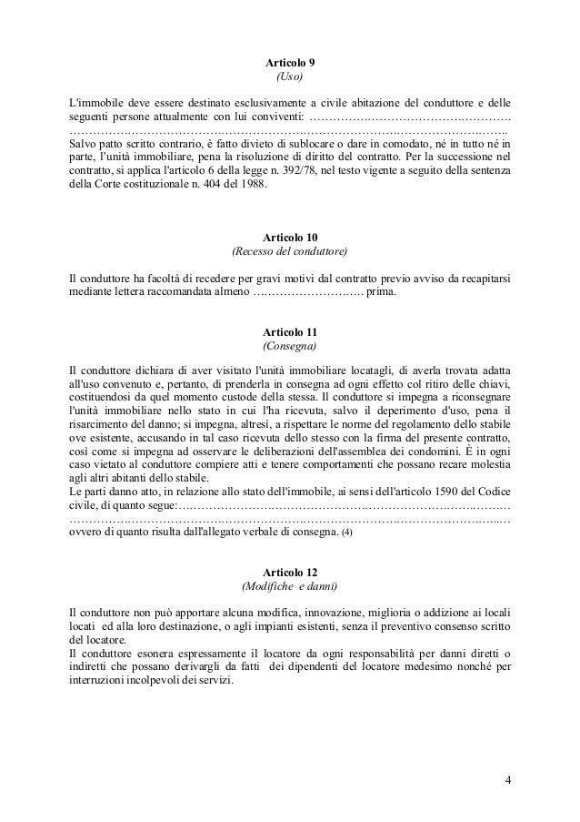 locazione transitoria modello contratto