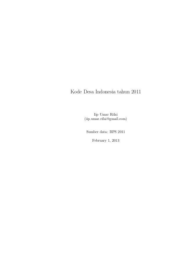 Master file desa 2011