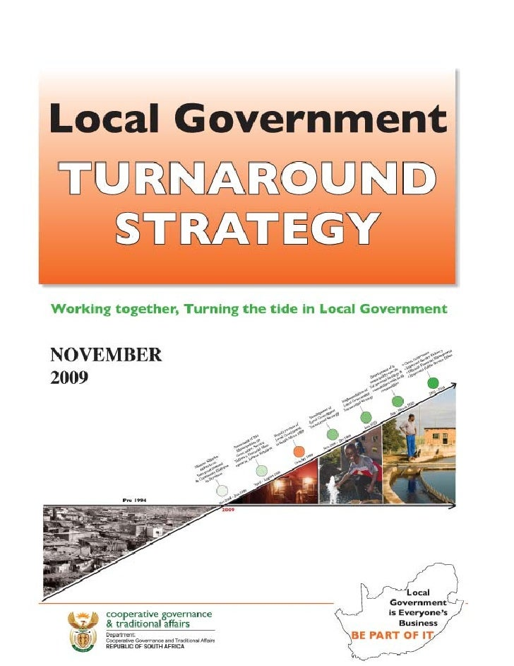 Loc govt turnaround strategy South Africa