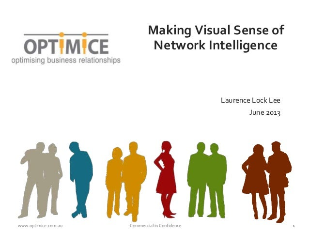 www.optimice.com.au Commercial in Confidence 1Making Visual Sense ofNetwork IntelligenceLaurence Lock LeeJune 2013