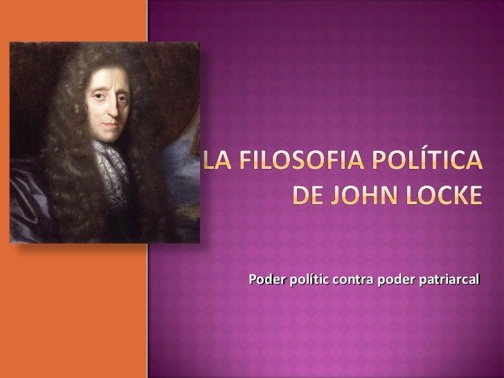 Poder polític contra poder patriarcal