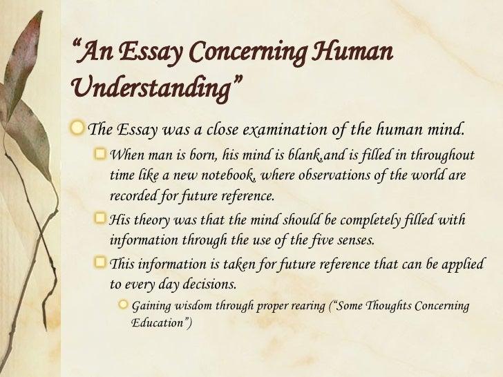 On Human Understanding Locke