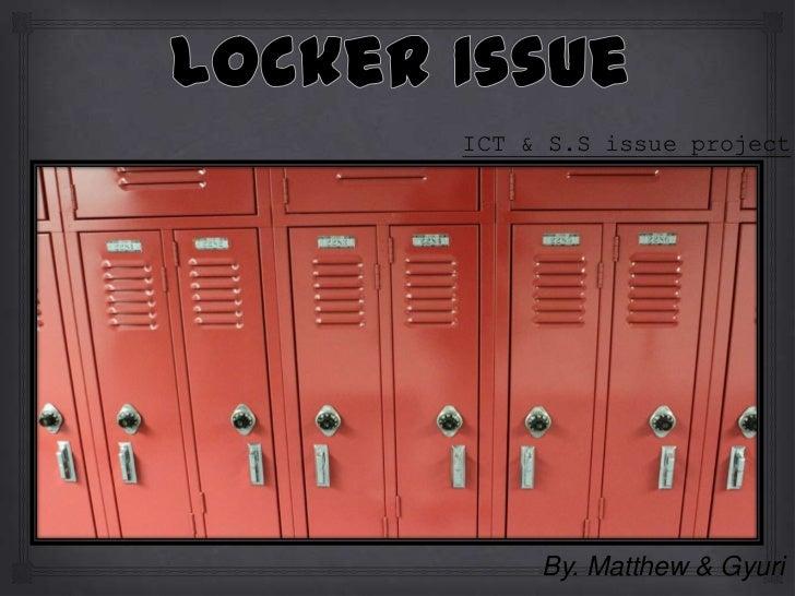 Locker issue